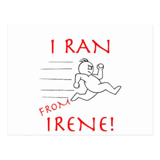I RAN FROM IRENE POSTCARD