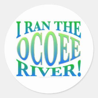 I Ran the Ocoee River Classic Round Sticker