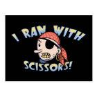 I Ran With Scissors Postcard
