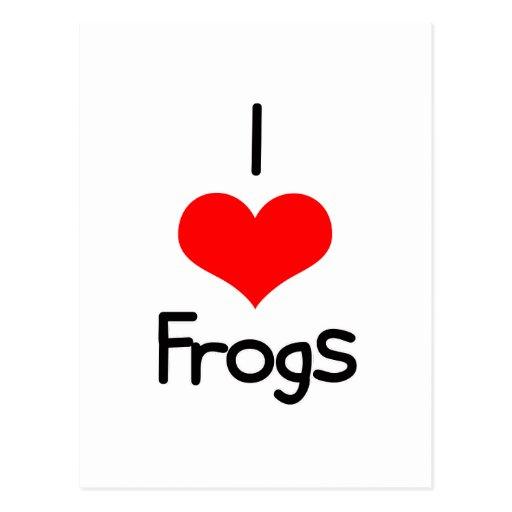 I ranas del corazón (amor) tarjetas postales