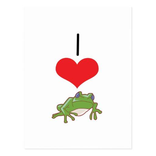 I ranas del corazón (amor) postal