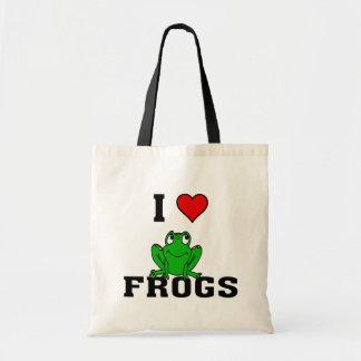 I ranas del corazón bolsa tela barata