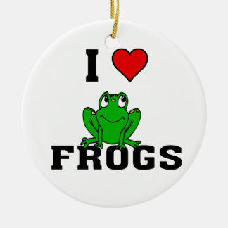 I ranas del corazón adorno de navidad