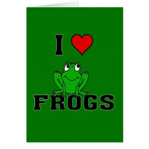 I ranas del corazón tarjeta