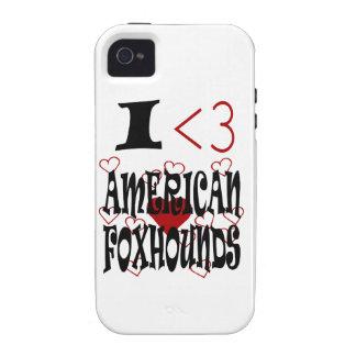 I raposeros americanos del corazón vibe iPhone 4 fundas