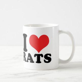 I ratas del corazón básicas taza básica blanca