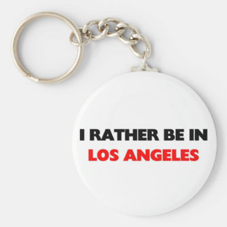 I rather be in los angeles keychain