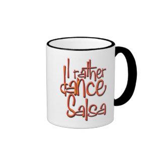 I rather dance Salsa Ringer Mug