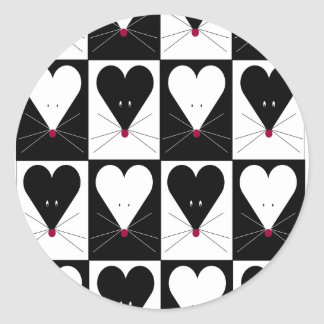 I ratones del corazón etiquetas redondas