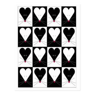 I ratones del corazón tarjeta postal