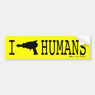 I (Raygun) Humans Car Bumper Sticker