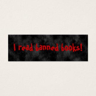 I read banned books Bookmarks Mini Business Card