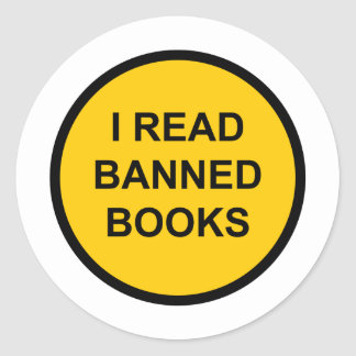 I Read Banned Books Classic Round Sticker