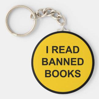 I Read Banned Books Keychain
