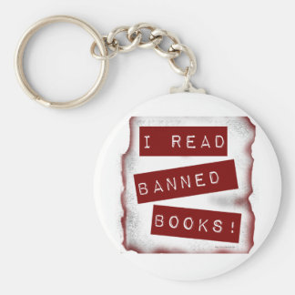 I read banned books! keychain