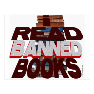I READ BANNED BOOKS POSTCARDS