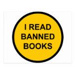 I Read Banned Books Postcard