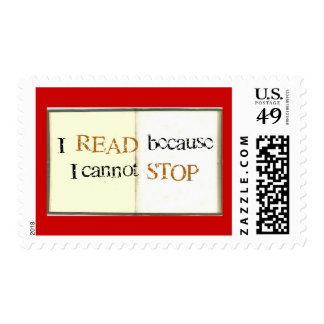 I read because I cannot stop  Stamp