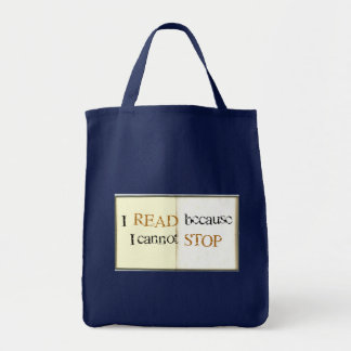 I read because I cannot stop Totebag Tote Bag
