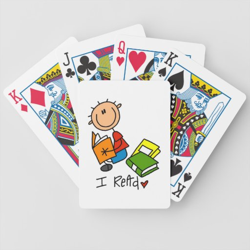 I Read Bicycle Poker Cards