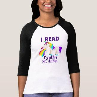 I Read Cynthia St. Aubin Raglan T-shirt