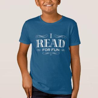I Read For Fun (kid's white design) T-Shirt