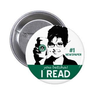 I Read Papers Pinback Button