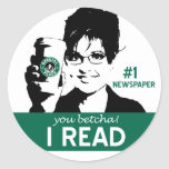 I Read Papers Round Stickers
