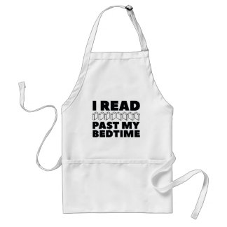I Read Past My Bedtime Adult Apron