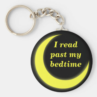 I read past my bedtime keychain
