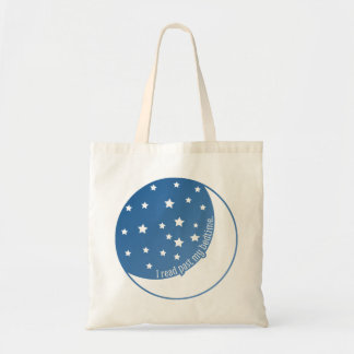 I Read Past My Bedtime Stylized Graphic Book Bag