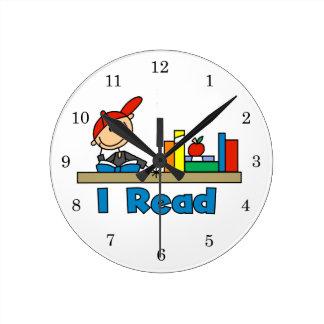 I Read Round Clock