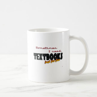 I Read Textbooks Classic White Coffee Mug