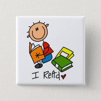 I Read Tshirts and Gifts Pinback Button