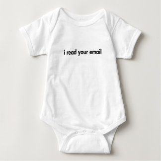 I read your email baby bodysuit