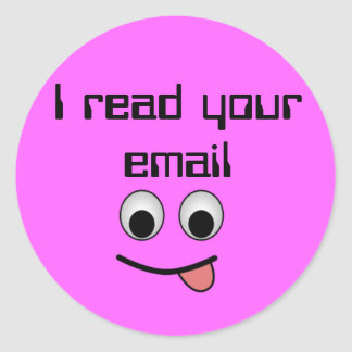 I read your email Sticker