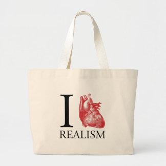 I realismo del corazón bolsa tela grande