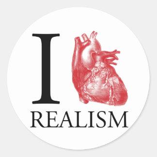 I realismo del corazón etiquetas redondas