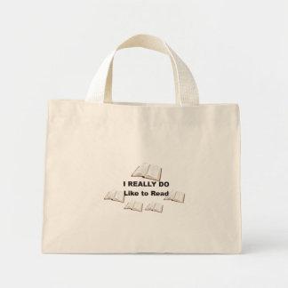 I Really Do Love to Read Totebag Mini Tote Bag