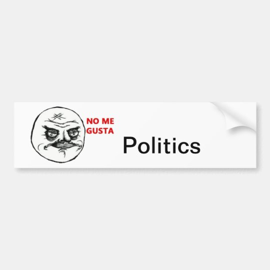 I really dont care for politics. bumper sticker