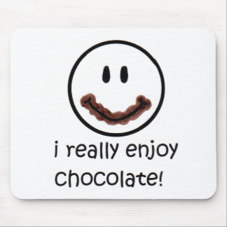 I Really Enjoy Chocolate Mouse Pad