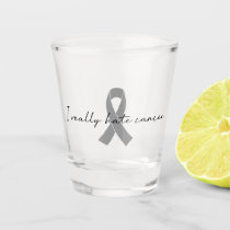 I Really Hate Cancer | Any Color Ribbon Shot Glass