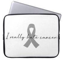 I Really Hate Cancer | Survivor | Any Color Ribbon Laptop Sleeve
