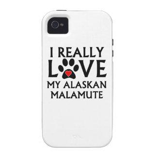 I Really Love My Alaskan Malamute iPhone 4/4S Covers