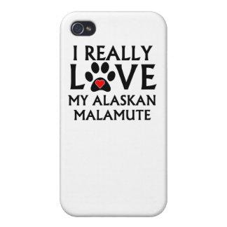 I Really Love My Alaskan Malamute iPhone 4 Covers