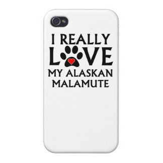 I Really Love My Alaskan Malamute Covers For iPhone 4