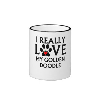 I Really Love My Goldendoodle Coffee Mugs