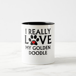 I Really Love My Goldendoodle Mugs