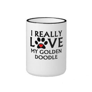 I Really Love My Goldendoodle Coffee Mug