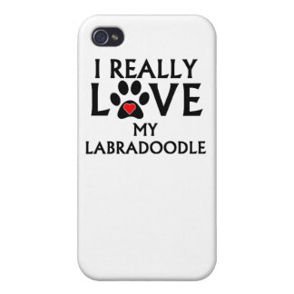 I Really Love My Labradoodle Cases For iPhone 4